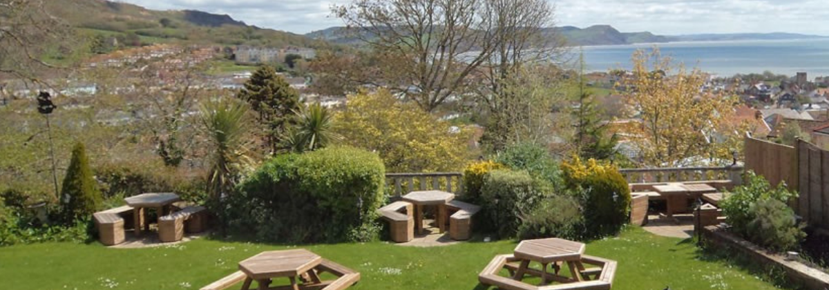 GARDEN VIEW AT the mariners hotel lyme regis