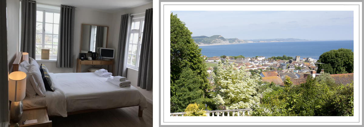 sea view rooms at the mariners hotel lyme regis